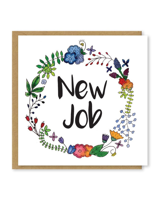 New job card congratulations on your new job good luck in etsy zoom m4hsunfo