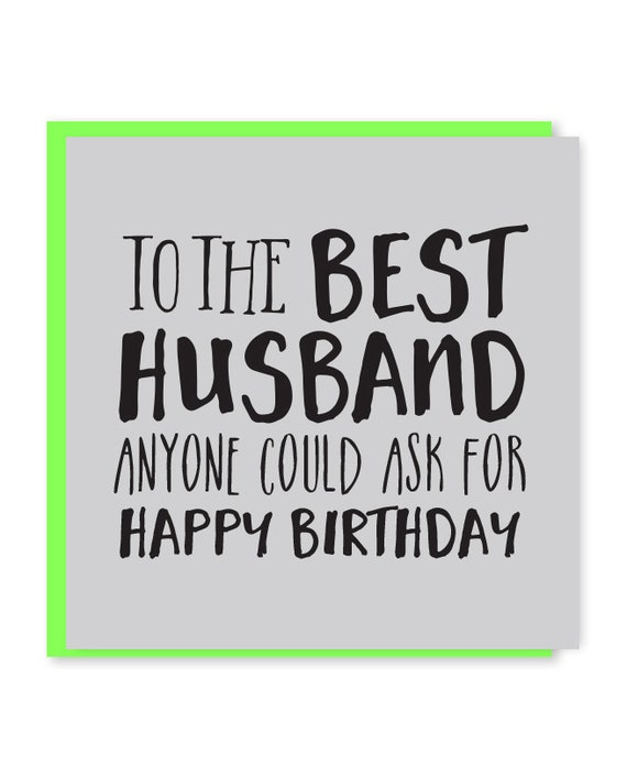 Best Husband Card Birthday Happy To