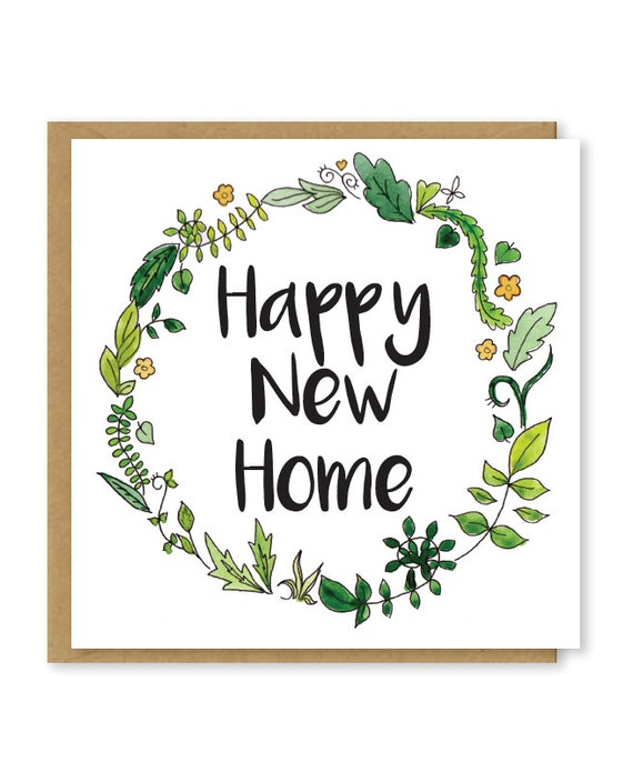 New home card floral happy new home greetings card etsy image 0 m4hsunfo