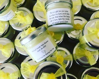 20 Personalised mini candles, baby shower party gift, baby shower favours, baby shower favors, personalized candles, personalised candles,