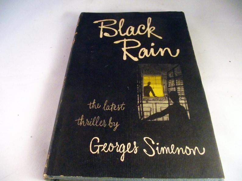 BLACK RAIN by Simenon Georges   NY: Reynal & Hitchcock.. image 0