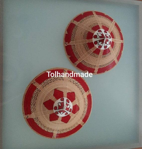 Vintage Sabah woven sun hats.