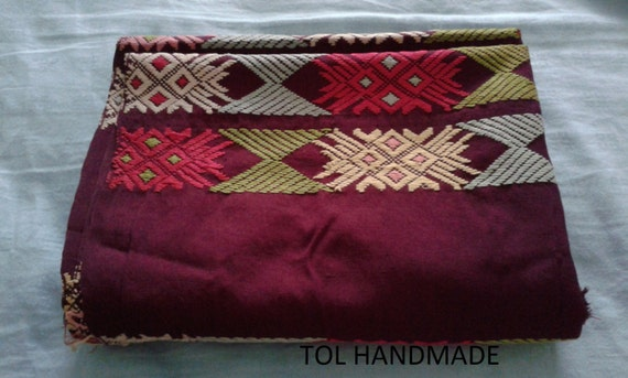 Vintage Burmese textiles, Tablecloth, Tube skirt,