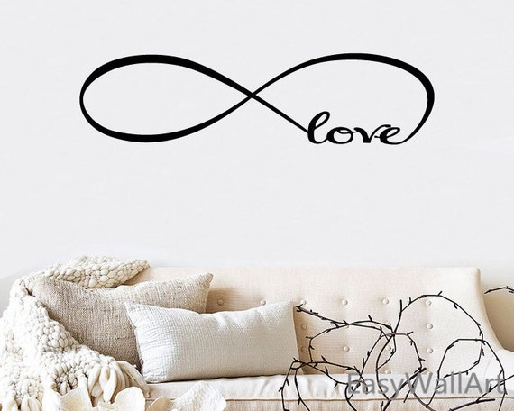 Bedroom Wall Decal Infinity Love Wall Decal Love Quotes Etsy Stunning Infinity Love Quotes