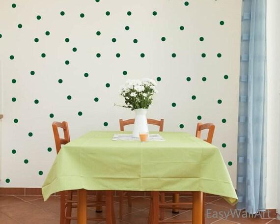 Parete A Pois Fai Da Te : Verde a pois decalcomanie da muro da pollici verde polka etsy