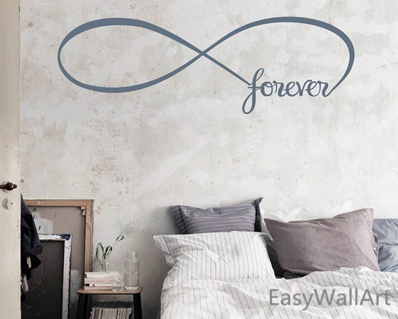 Infinity Wall Decal Forever Infinity Wall Quotes Vinyl   Etsy