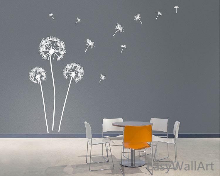 Dandelion Blowing In The Wind Wall Decals Dandelion Wall