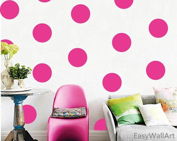 Parete A Pois Fai Da Te : Pois rosa muro decalcomania decal pois rosa rosa polka dot etsy