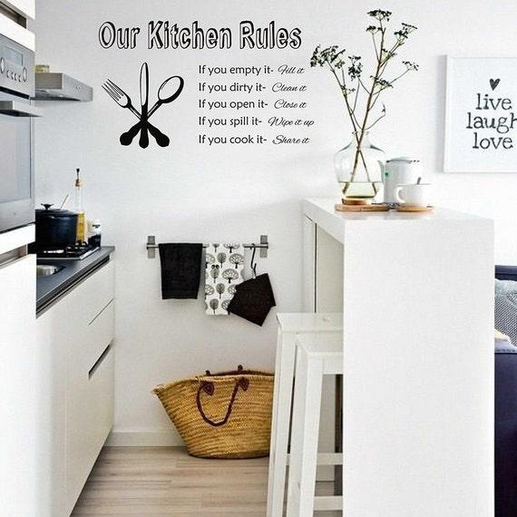 Reglas de cocina - decoración de sala comedor - cocina Decor - regalo para  mamá o regalo para la abuela #667Q