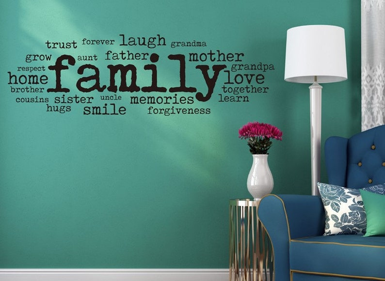 Family Collage Family Wall Quotes Decal For Living Room Etsy