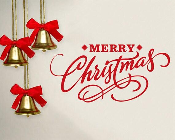Frohe Weihnachten Aufkleber Weihnachten Fenster Aufkleber | Etsy