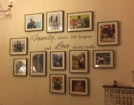 Love Family Quotes Wall Decal Family Wall Decal Family Etsy