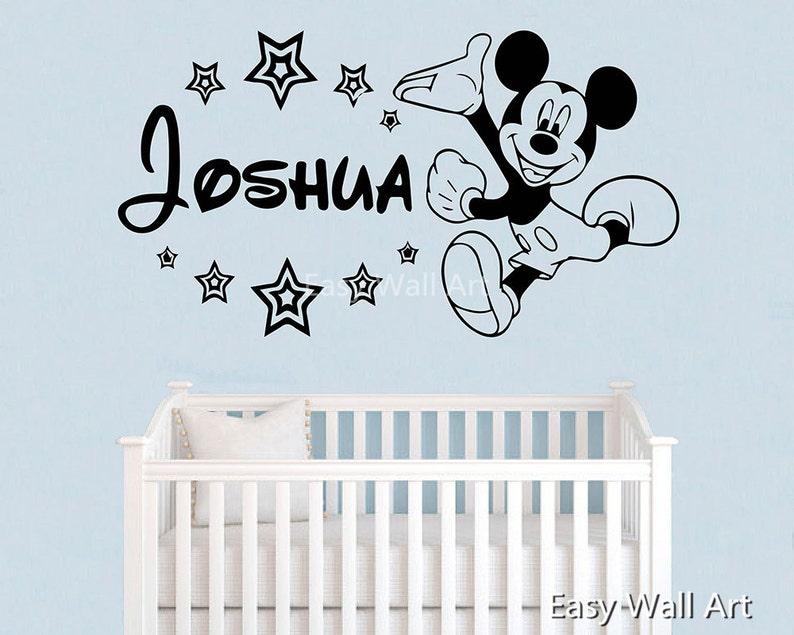 Angepasste Kind Name Wandtattoo - Maus namens Wandtattoo Wand Aufkleber  Kinderzimmer Vinyl Schriftzug Kinder Sticker # 554 angepasst