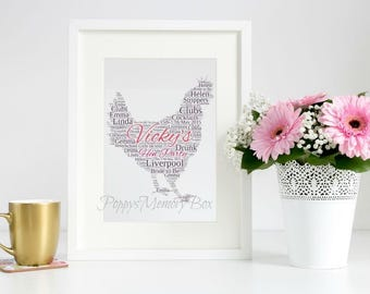 Hen Party Print Gift, Hen Party Print, Personalised Hen Party, Bride to Be Print, Hen Do Poster, Hen Do Memories, Funny Hen Party