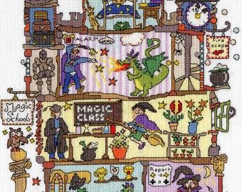 Bothy Threads XCT31 Cut Thru' Magic School Cross Stitch Kit by Amanda Loverseed
