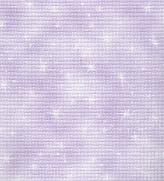 Fabric Flair Cloud Winter Sky 16 count Aida with Sparkles approx 45 x 50cm piece