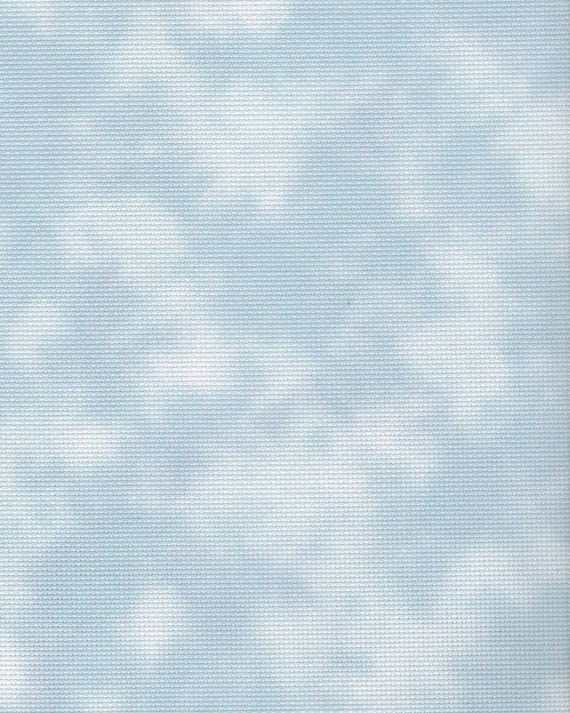 Fabric Flair 18 count Cloud Blue Aida with Sparkles piece approx 45 x 50cm