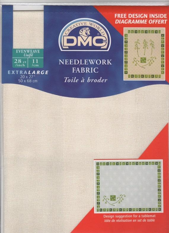 DMC Aida 14ct Ecru Extra Large 20 x 30 inch