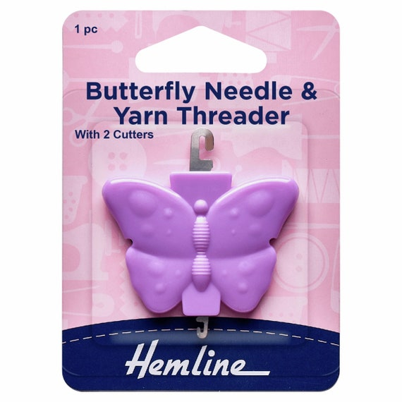 Hemline Hummingbird Needle Threader for hand needles with blade to cut threads