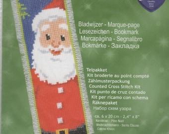 Vervaco Santa Claus Bookmark Cross Stitch Kit