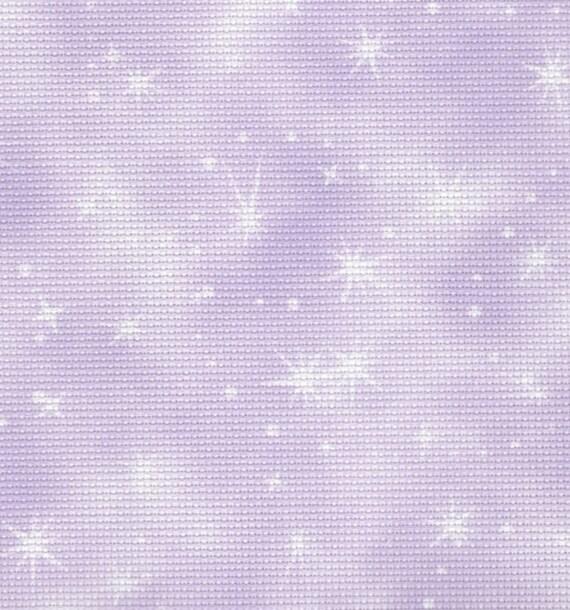 45 x 50cm piece Fabric Flair Fairy Dust Cloud Blue//Pink 14 count Aida