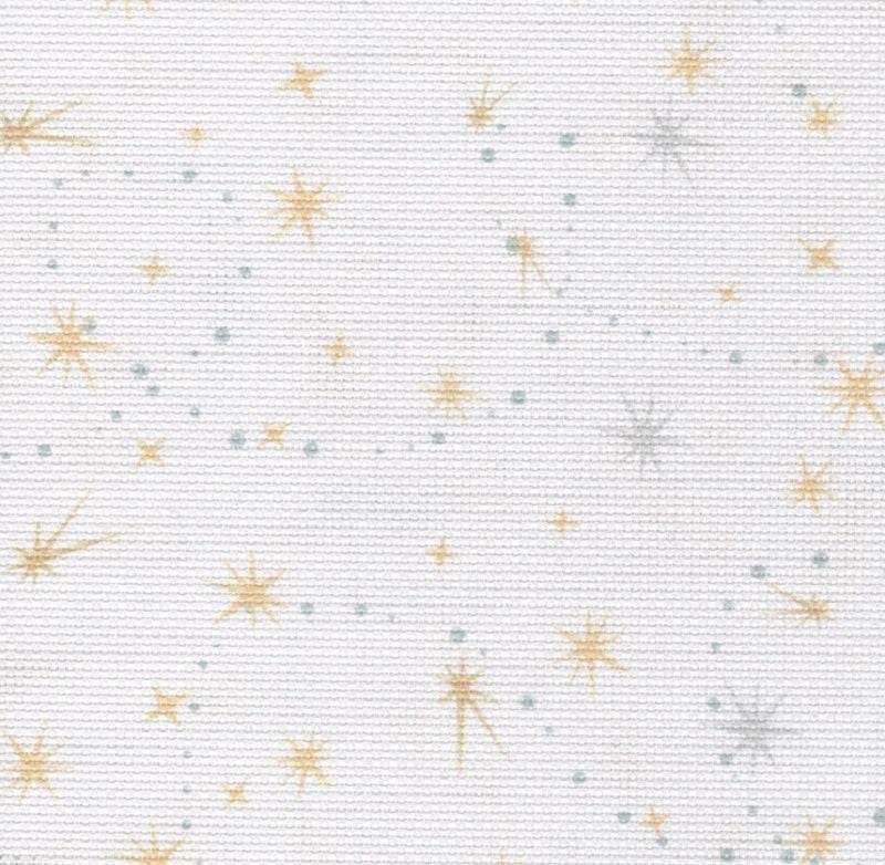 Tissus Flair - - Flair argent & or la poussière de fée avec brille de mille feux 16 count Aida.  Pièce d'environ 45 x 50cm e2fbd4