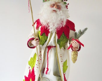 Christmas Doll, ooak Santa Claus Handcrafted by artist Walt Carter