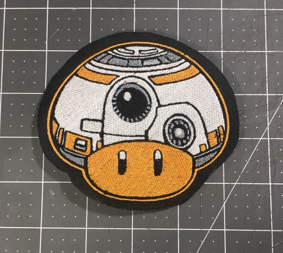 BB8 Droid Iron On Sew On Patch