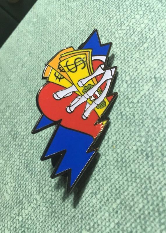 56ef347745dff9 Loser Bolt GD Hat Pin Lapel Pin Put   Etsy
