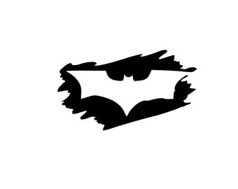 "Dark Knight  Batman and Joker Half Evil 333 Vinyl Car Decal Sticker  6/"" H"