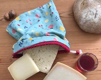 Reusable cotton cheese bag and pul \ parmesan door \ food door to put in the fridge