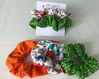 Elastic scrunchies for 80s dinosaur hair