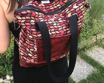 Magic bag - hobo bag - Backpack bag three in one