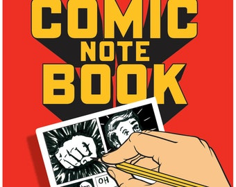 Comic Artists Notebook A5, Drawing Aid for Comic Book Lovers, Comi Con Lovers Gift Idea, Magazine layout For Young Artists, DIY Artist