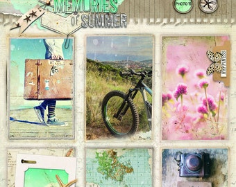 Empheria Studio Light  EASYM617  Memories of Summer pop out photos of holidays ideal for birthday cards