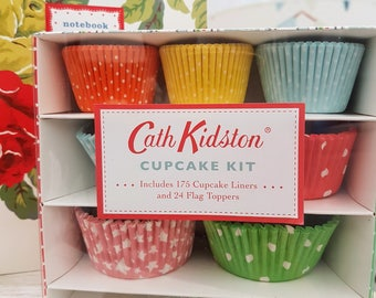 Cath Kidston Cupcake Kit with dotty and spotty cupcake liners and flags, Baking Lovers Cup Cake Gift Idea,  Cake makers lovely gift idea