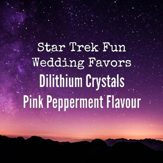 Star Trek Mints Tin Gift Idea Star Trek Wedding Favors Pink Etsy