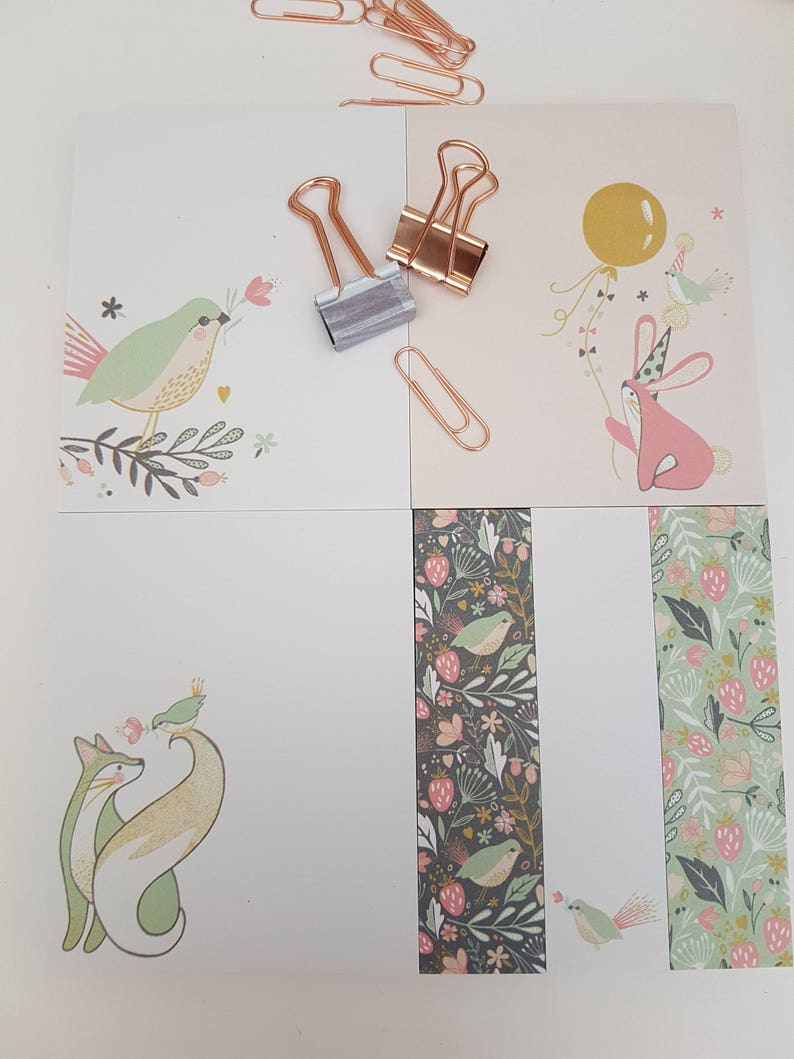 Pastel Animal Sticky Notes Set Pretty Planner Notes Gift for image 0
