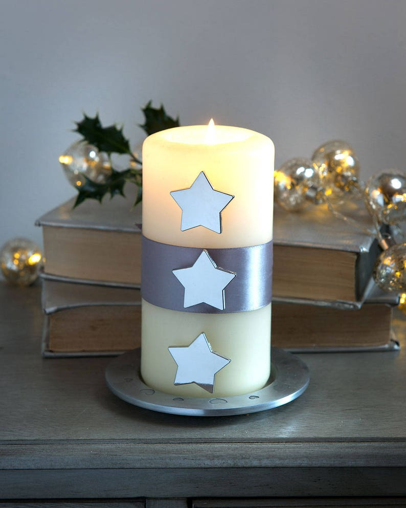 Silver Stars Candle Studs for a pretty Table Candle Jewels image 0