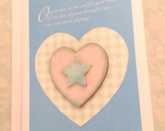 Beautiful Son born sleeping - sympathy card, bereavement card, baby boy sympathy card, baby boy bereavement card, condolence card