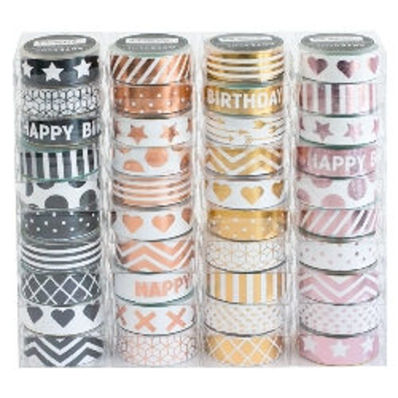 Pretty Metallic Washi Tape for paper crafts Industrial image 0