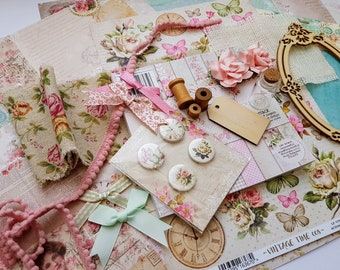 Vintage Delux Scrapbooking and Card making Kit, Lemoncraft and Studiolight Mixed Limited Edition Crafters Summer Kit