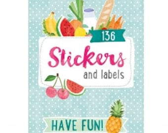 Tropical fruit Planner stickers,  Baking stickers and labels with pretty fruit images , Journaling labels and sticker book