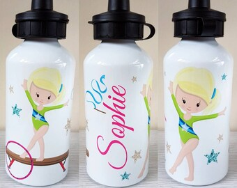 3095d2eee4 Gymnast water bottle personalised bottle custom water bottle gymnastics  girls gymnastic sports bottle gymnast gift coach gift gift for her