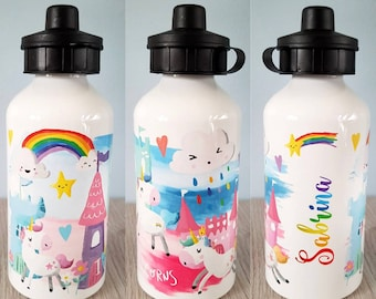 Personalised Tinker Fairy Name Decal Sticker for School Water Bottle Kids Sports