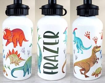 bcd5cd3e4e Dinosaur water bottle personalised bottle custom water bottle sports bottle  gift gift for kids