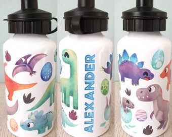 7a7eab419a Dinosaur water bottle personalised bottle custom water bottle sports bottle  gift gift for kids boy dinosaurs dinosaur party dino boys