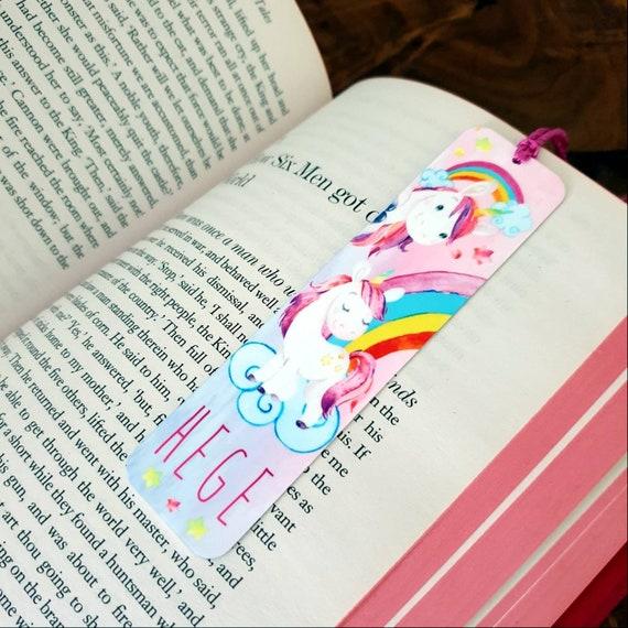 Personalised Unicorn Gifts Kids Girls Birthday Present Name Christmas Bookmark