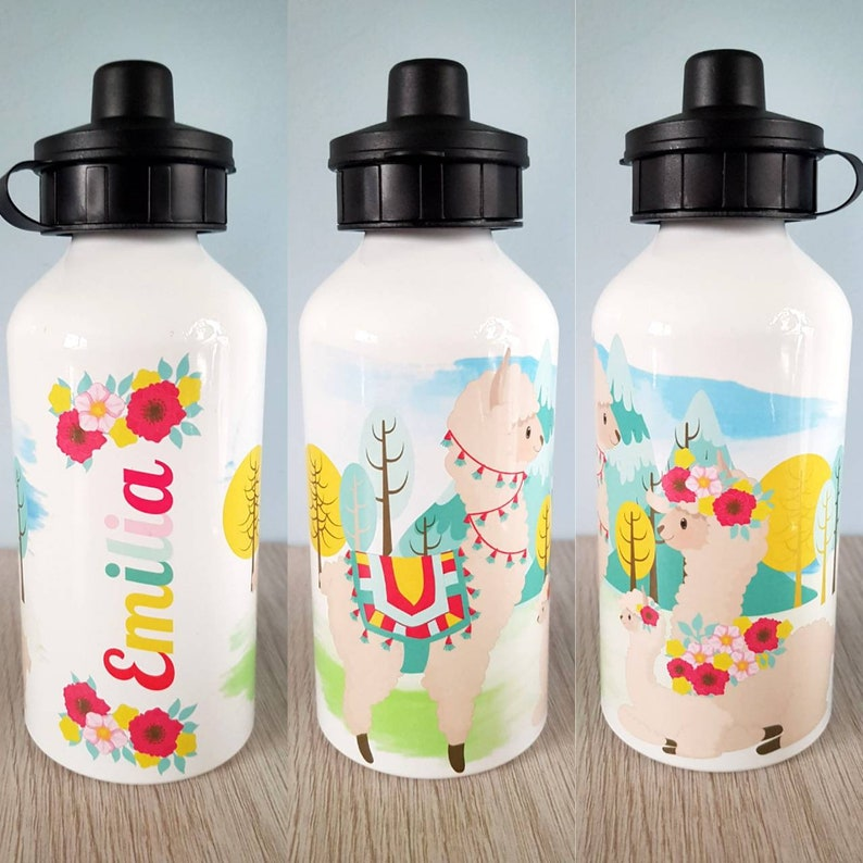 Llama Holiday Alpaca My Bags Sports Drinks Water Bottle