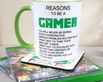Reasons to be a gamer mug gamer coffee mug gamer gift funny mug ceramic mug video game mug nerd gift gamer mug gaming mug nerd mug